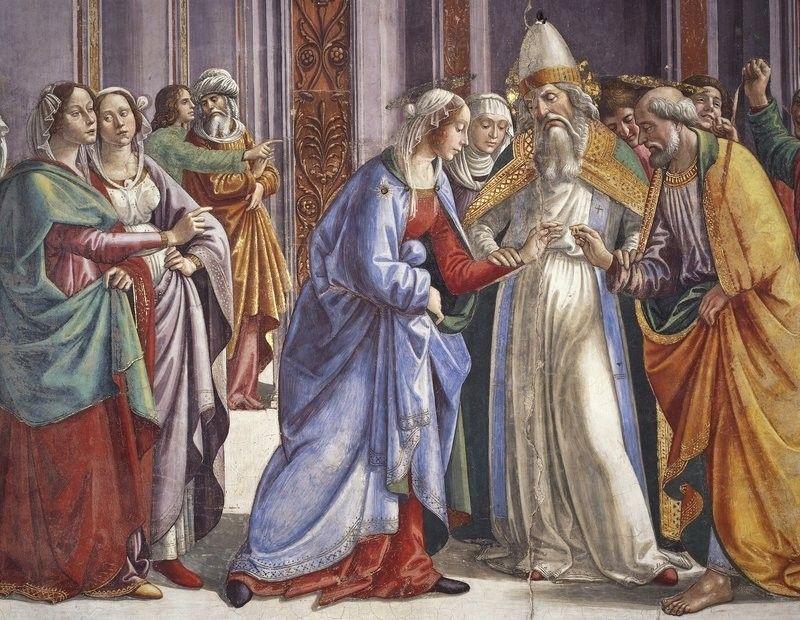 Domenico ghirlandaio the marriage of the virgin 1485