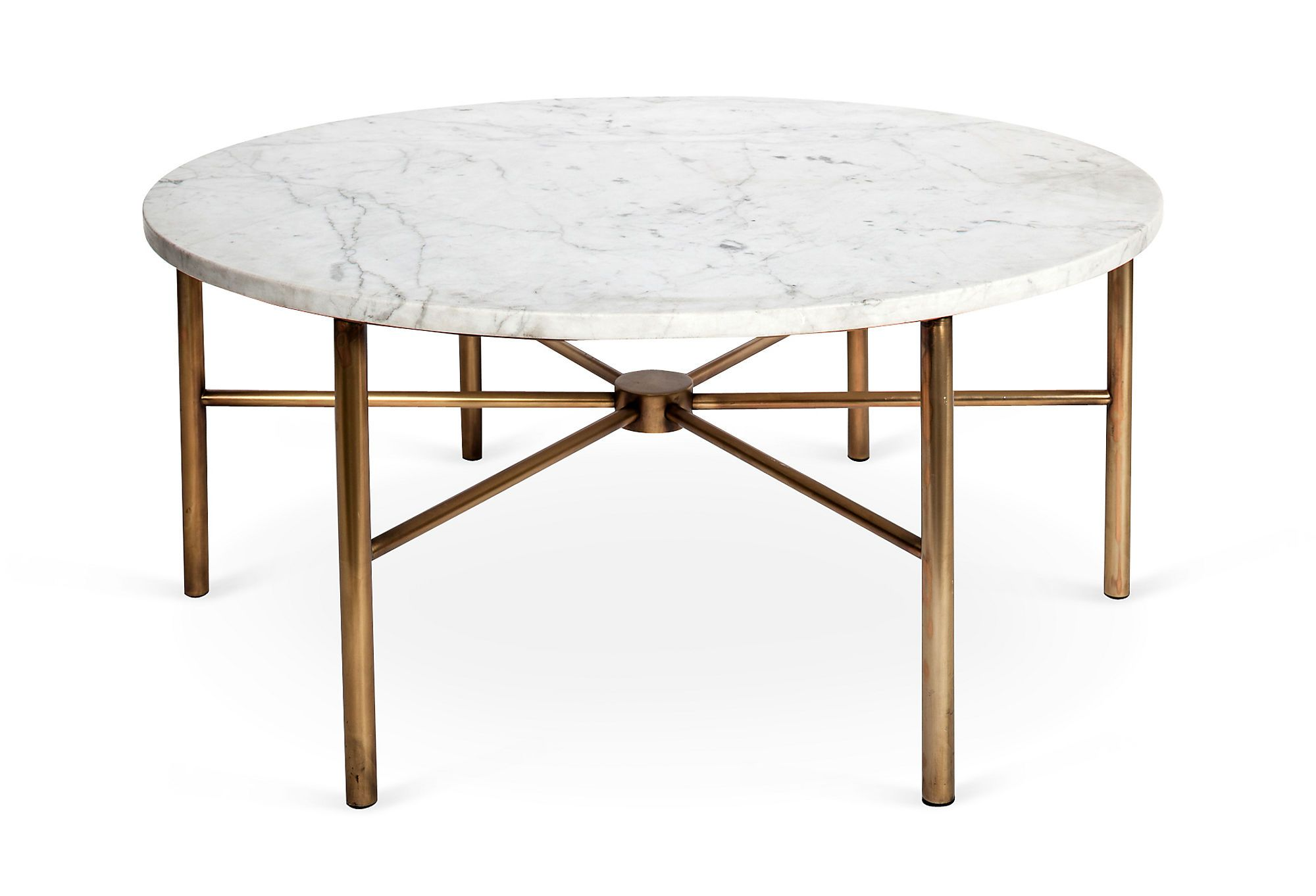 James lane marble coffee table round contemporary minimalist