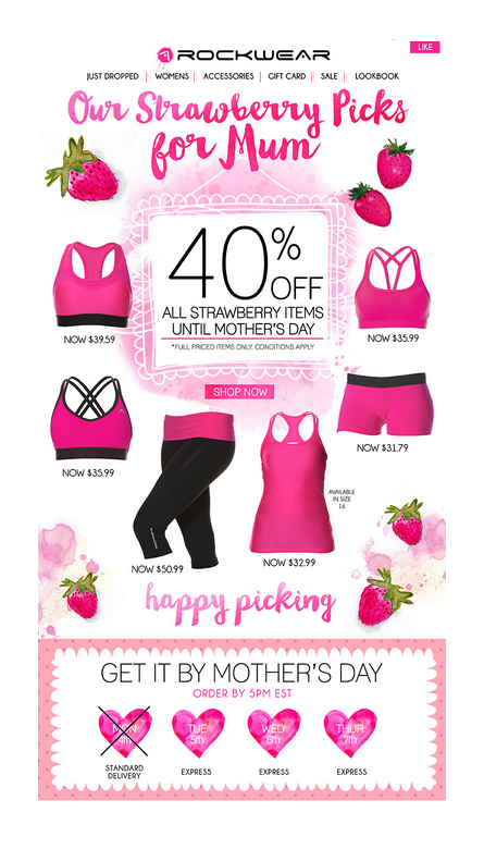 Mother's day sale email