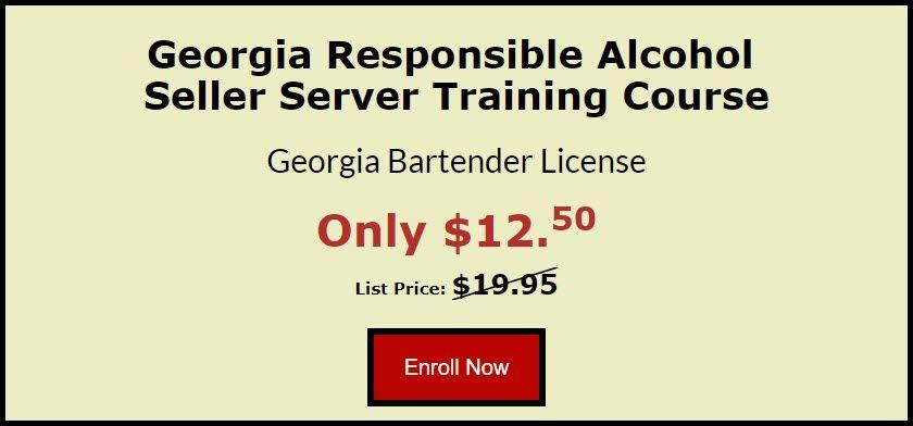 Georgia Alcohol Server Certificate Course Alcohol Bartender