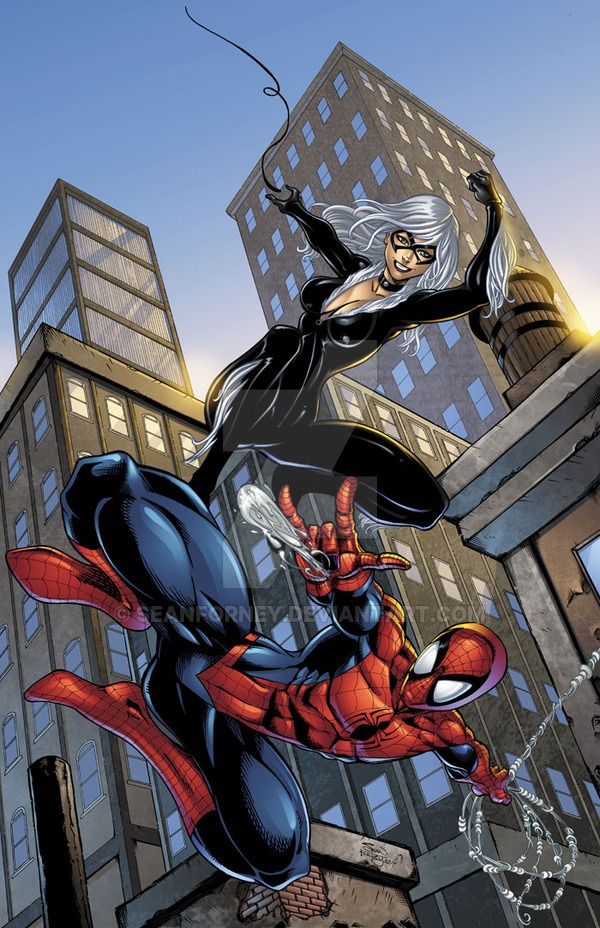 Spiderman and Black Cat colors by seanforney.deviantart