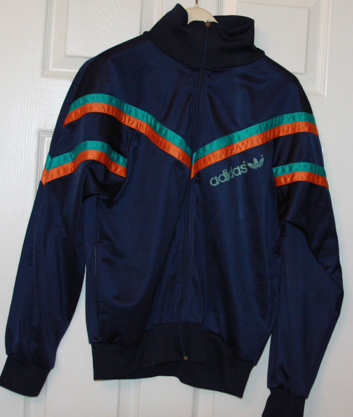True Vintage 1980s 1990s Adidas Tracksuit Top Size 38 40