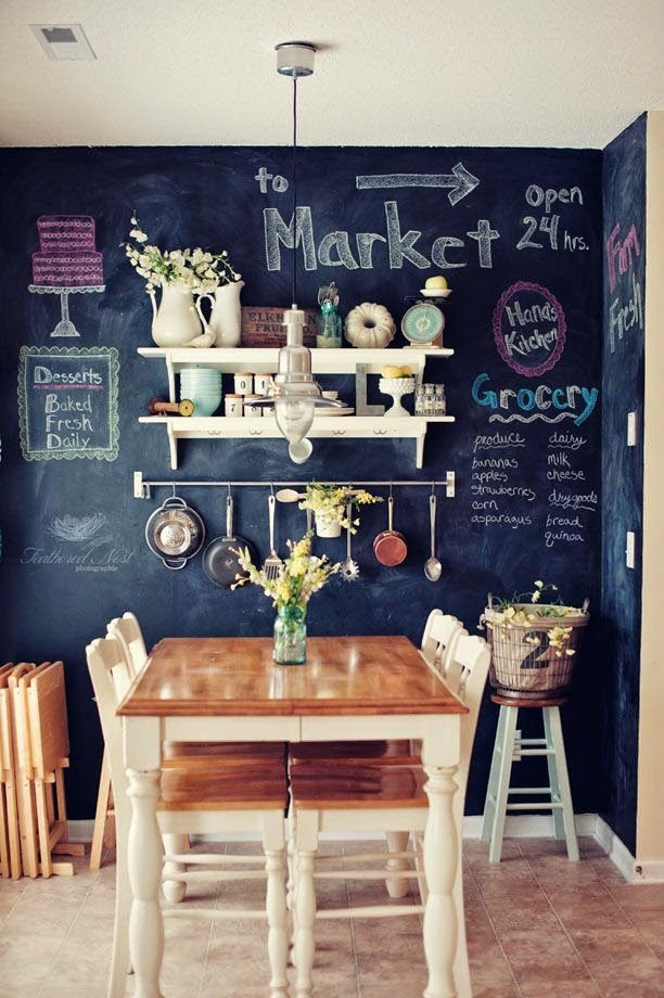 Charming Chalkboard Wall Decor Ideas For More Fun Paredes De