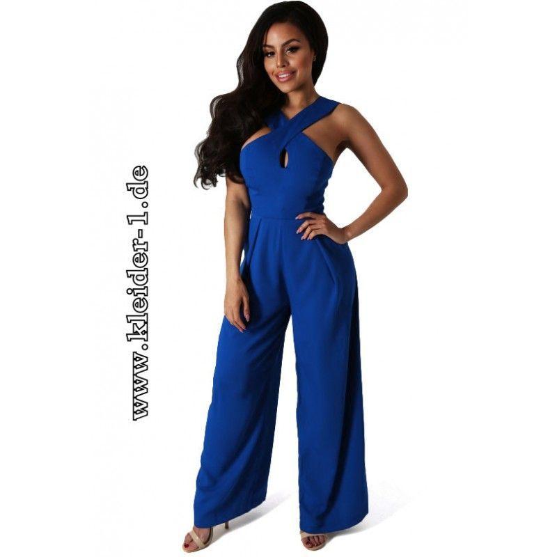 wholesale dealer 7ee6f 8c668 Sommer Einteiler Jumpsuit in Blau Elegant | Damenmode 2019 ...