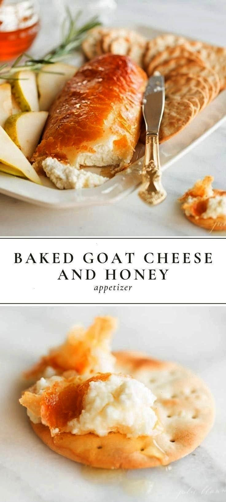 baked goat cheese and honey appetizer recipe that looks as g... Easy crowd pleasing baked goat chee