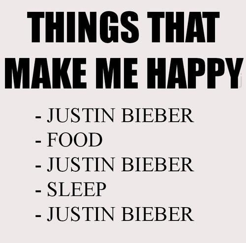 Justin makes me happy 99,9% all the way