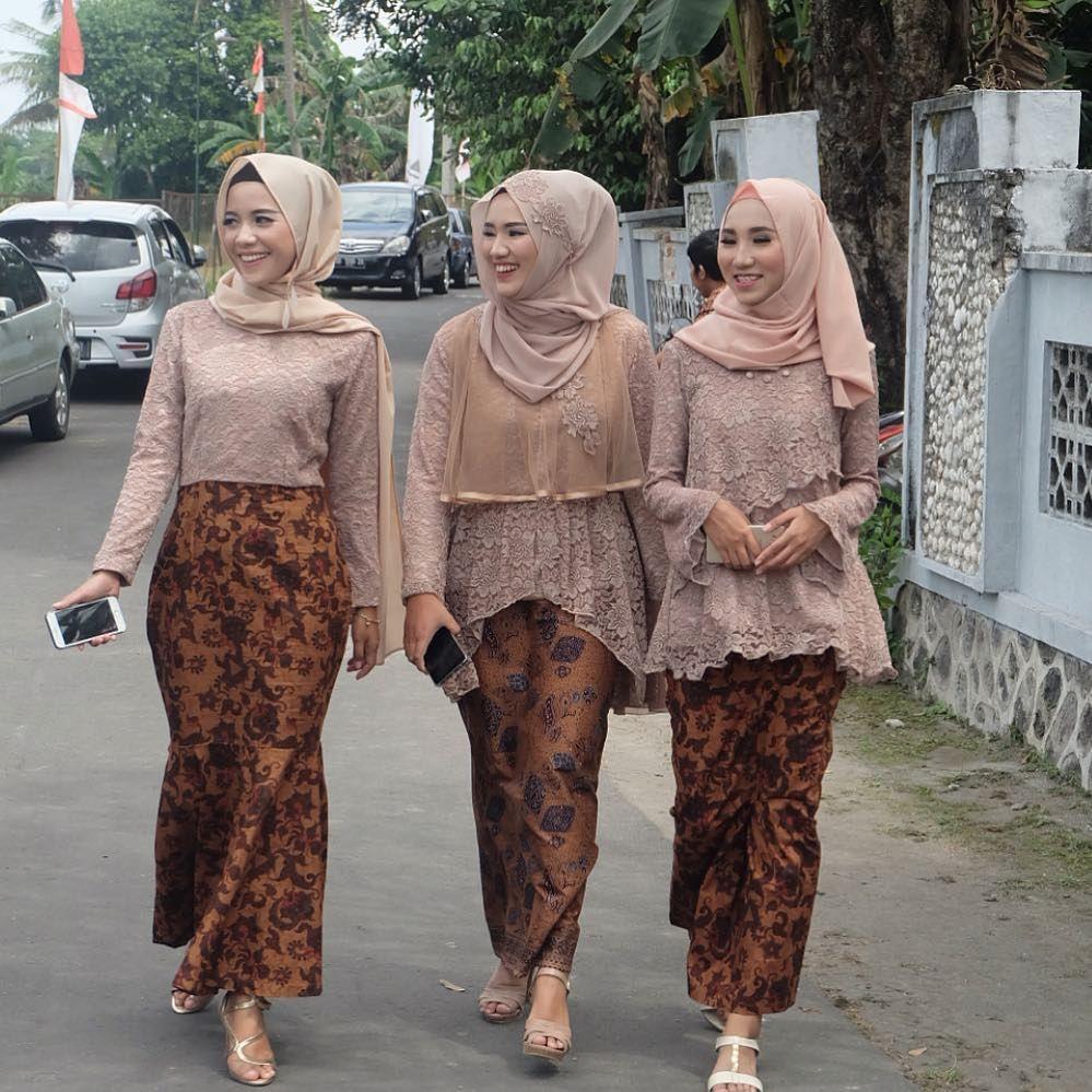 Model Kebaya Modern Brokat Rok Batik Solo Kebaya Pakaian Kasual