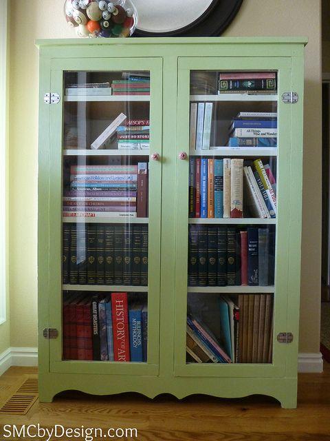 Pretty Green Cabinet Herb Cornucopia By Valspar Bookcase Bookcase Diy Bookcase Redo