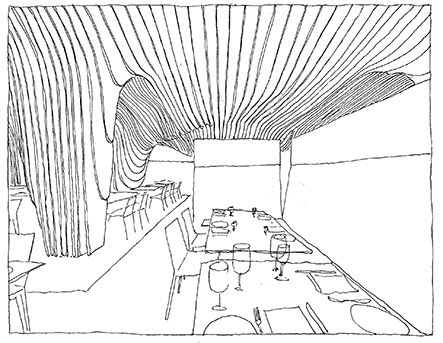 Office Da, Banq, Boston, Massachussets, USA   drawn by Riccardo ...