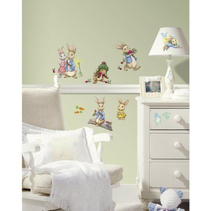 RoomMates RMK2605SCS Peter Rabbit Peel and Stick Wall Decals