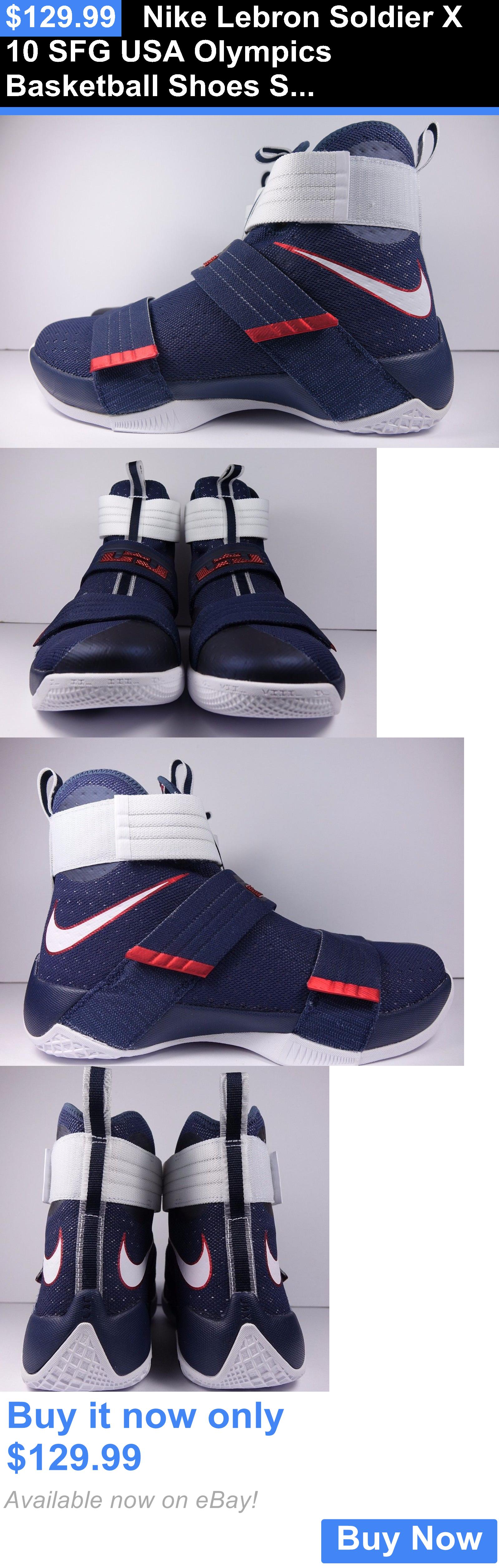 cef5715a9410 Basketball  Nike Lebron Soldier X 10 Sfg Usa Olympics Basketball Shoes Size  12 Brand New