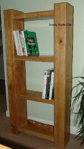 Rustic Oak Beam Bookcase Bookcase Oak Furniture Living Room