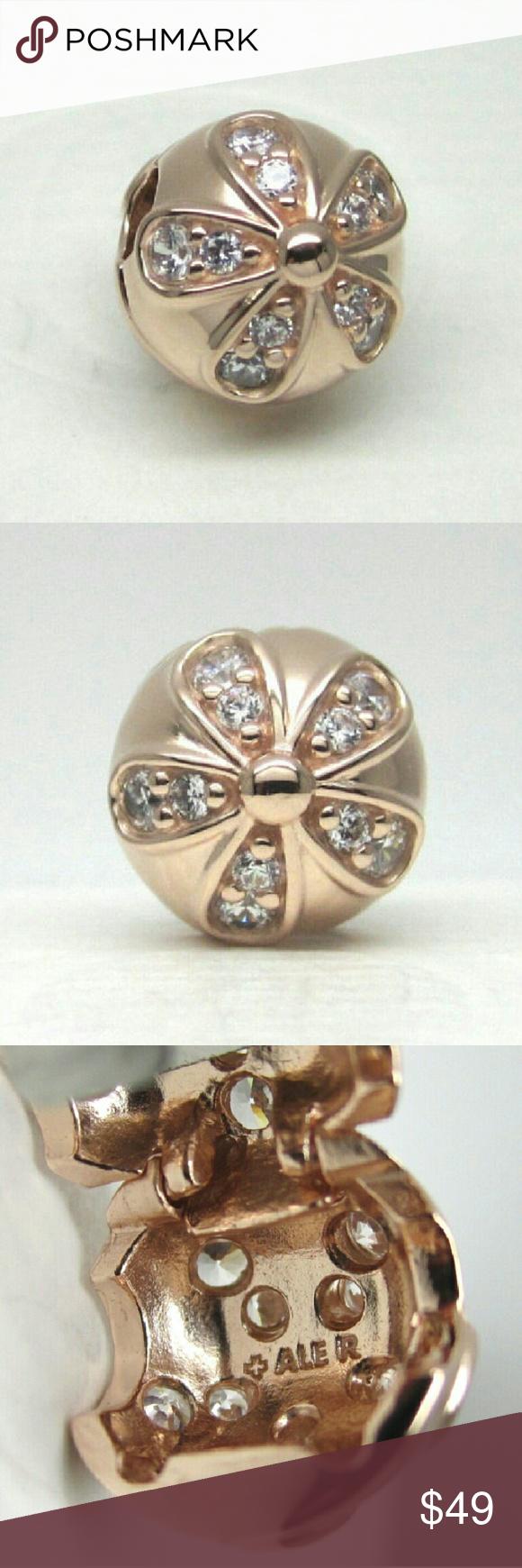 cd11bb7b5 Authentic Pandora Rose Gold Dazzling Daisies Clip New! Authentic Pandora  Rose Gold Dazzling Daisies Clip