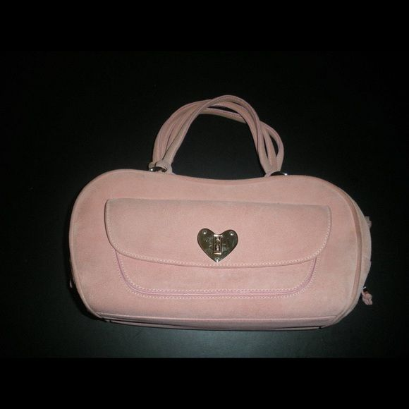 13e5e55684 Spotted while shopping on Poshmark  AUTHENTIC ESCADA PINK SUEDE HEART BAG!   poshmark  fashion  shopping  style  Escada  Handbags
