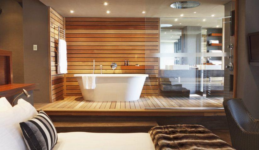 baño de lujo en madera Interior I Baños Pinterest Interiors - baos de lujo
