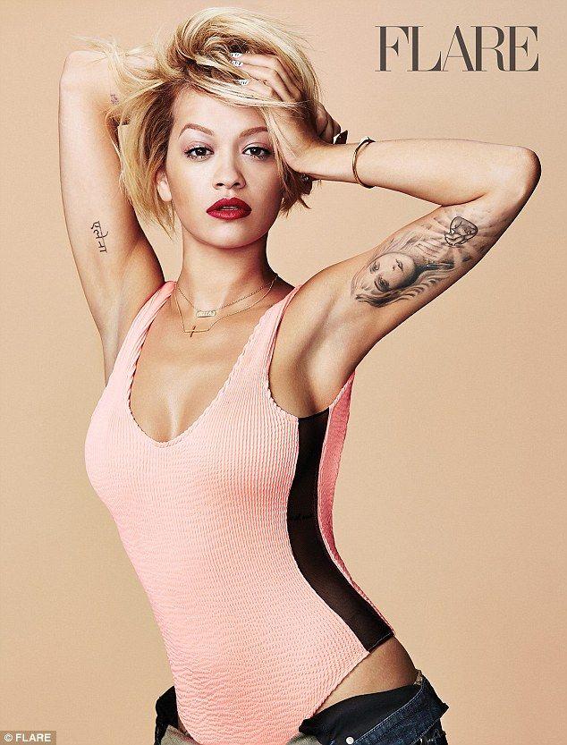 4f32589aa65 Rita Ora rocks fishnet body stocking in sexy shoot for fashion mag   dailymail