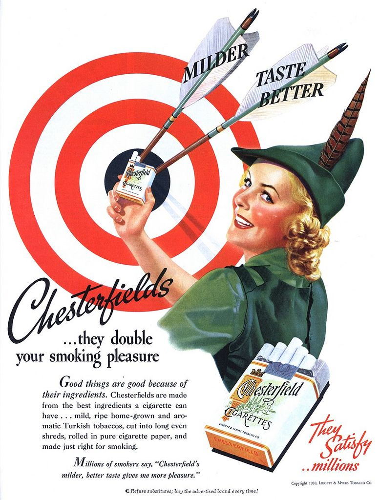 Chesterfield advertising 1938