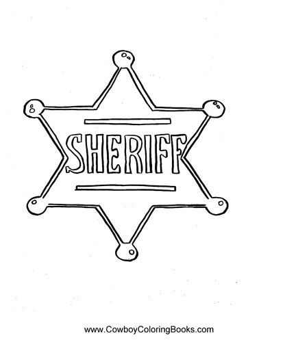 Sheriff Star Kid Google Search Paint Themes Coloring For Kids