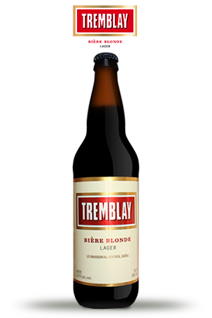 TREMBLAY • Golden & Intense • Young blond beer with hops • BRJ Quebec •