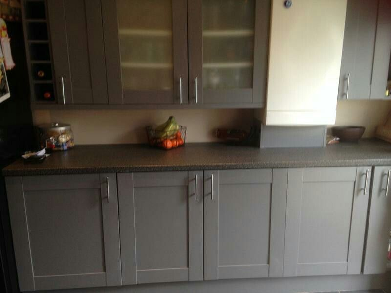 Ronseal Cupboard Furniture Paint Granite Grey Satin Cupboards Kitchen
