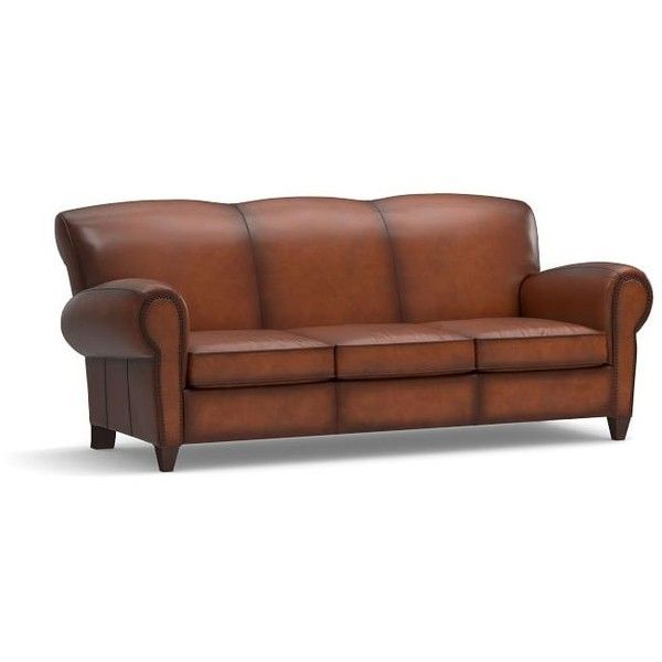 Pottery Barn Manhattan Leather Sleeper Sofa With Bronze Nailheads Leather Sleeper Sofa Leather Sofa Best Leather Sofa