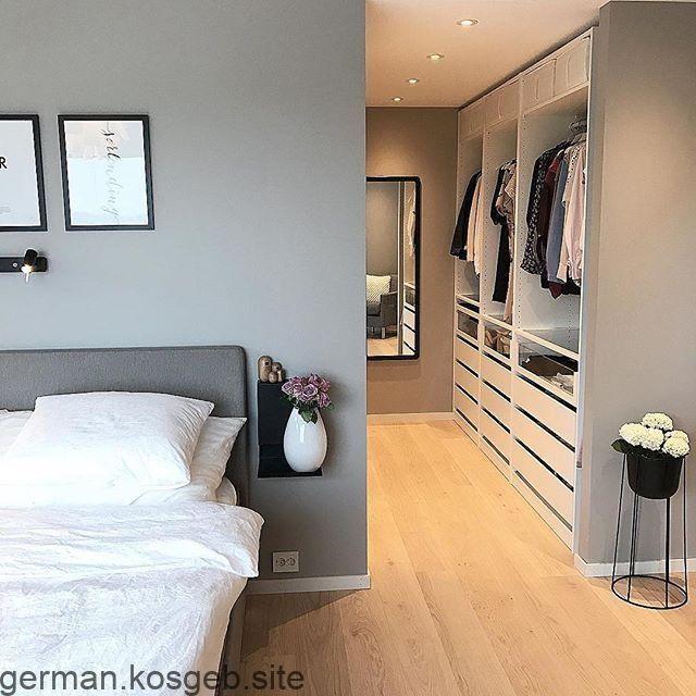 Scandi Schlafzimmer Inspo mit begehbarem Kleiderschrank ...