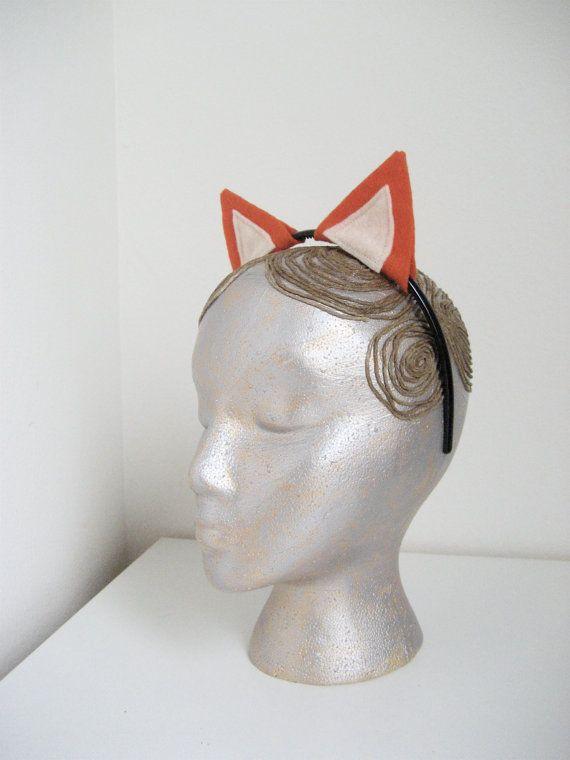 Fox Ears Headband, Halloween Costume, Dress Up Fox Ears for all ages. $10.00, via Etsy.