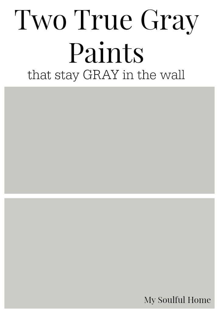 Two True Gray Paint Colors Paint Colors Peinture