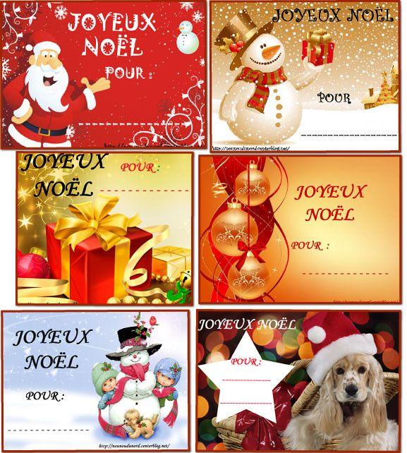 Des tiquettes imprimer pour vos cadeaux de no l je - Etiquettes de noel a imprimer ...