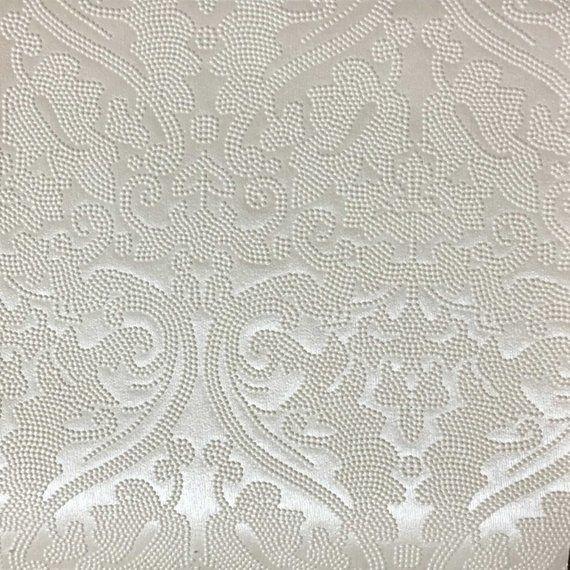 Vinyl Upholstery Fabric Lyon Pearl Damask Designer Pattern
