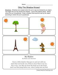 Shadows Worksheet Shadow Lessons Have Fun Teaching Cause And