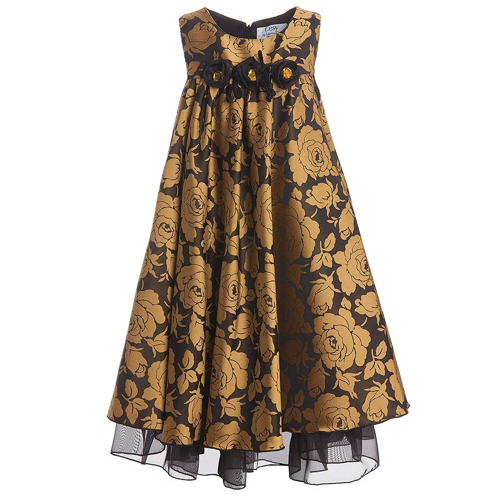 Lesy black u gold roses dress childrensalon bright and bold