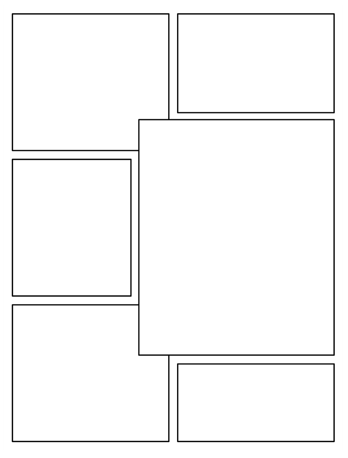 Blank Comic Book Pages Template