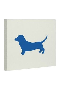Doxie Silhouette Canvas