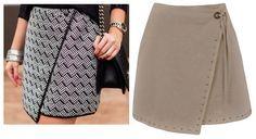 Saia Envelope Assimétrica – DIY – molde, corte e costura – Marlene Mukai
