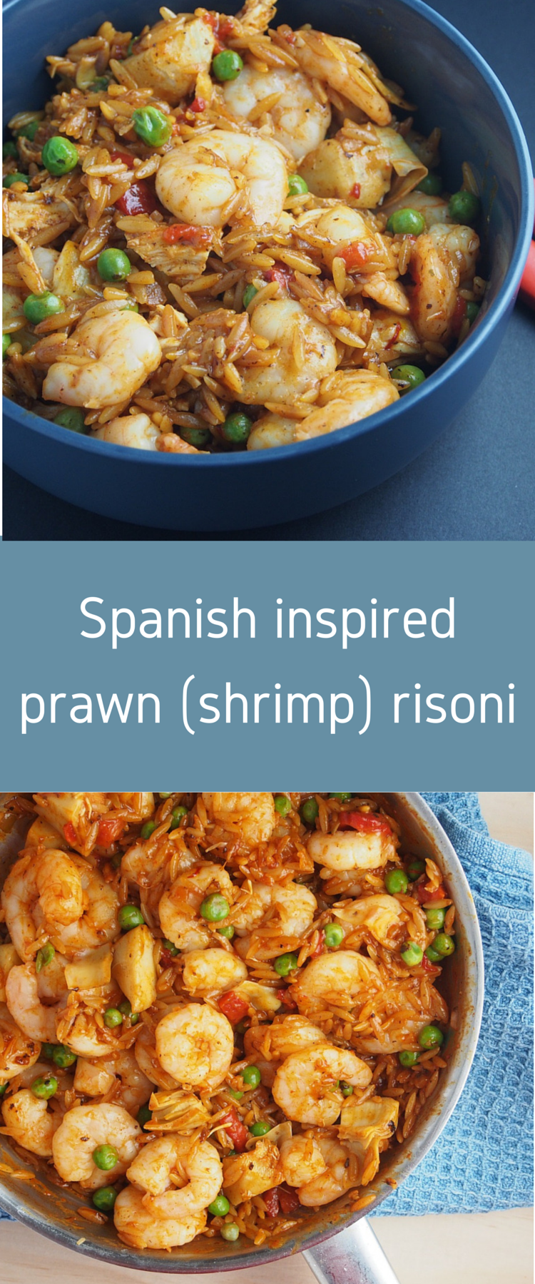 Spanish Inspired Prawns (Shrimp) with Risoni | Recipe | Pinterest ...