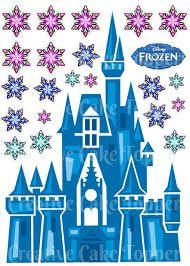 Resultado De Imagen Para Frozen Castle Printable Disney Frozen Castle Frozen Castle Birthday Cake Toppers