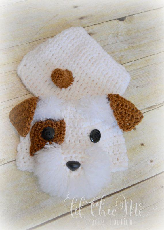 Puppy Hat & Diaper Cover Set, Custom Crochet Baby Puppy Set, Newborn ...