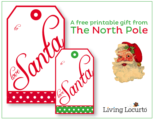 "Cute!  Free printable ""from Santa"" gift tags!  Perfect for those smart little kids who compare the handwriting to see if it looks like mom's or dad's :)"