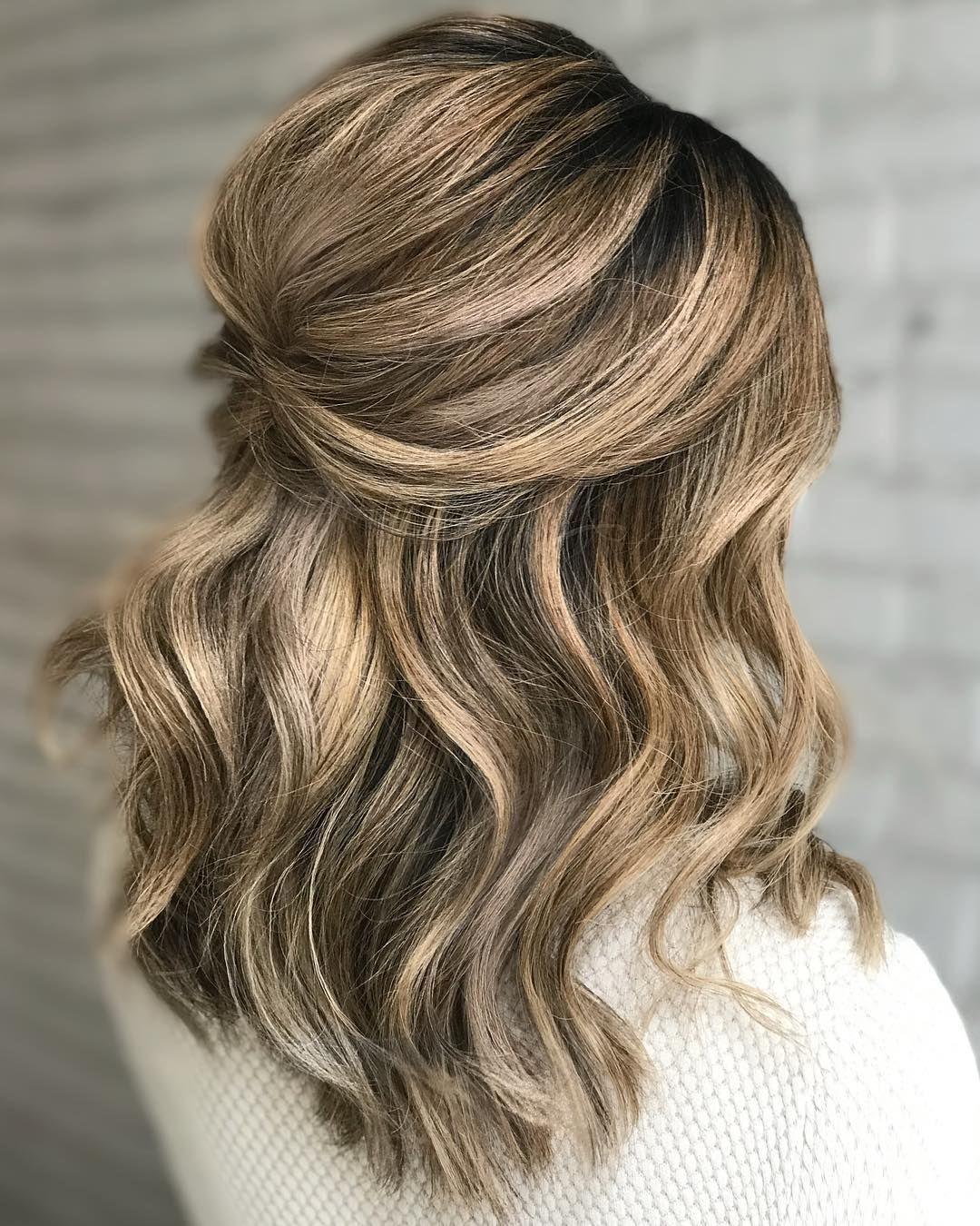 Kasia Fortuna On Instagram Half Up Style Hair Created During Bridal Hairstyling Course Kristinagasperasacademy Tutor Ka Hair Styles Hair Long Hair Styles