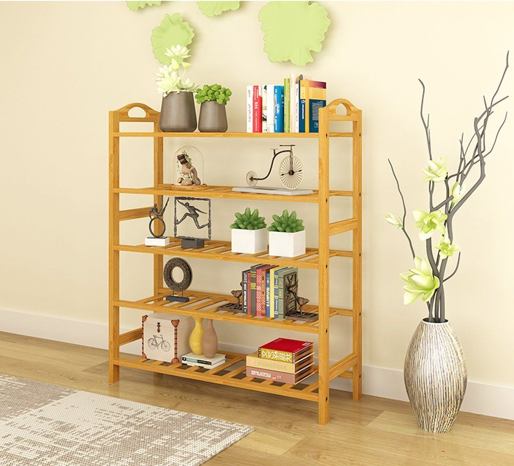 MILFUNCTIONAL BAMBOO STORAGE RACK SHELVING: You Can Also Put Your Clothes ,  Hat , Trousers