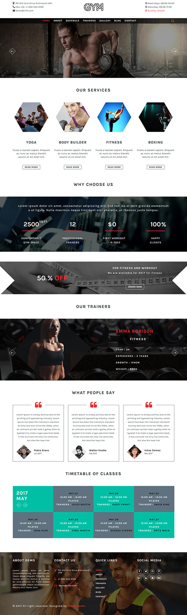 Gym Website Html Template Free Download Html5 Wordpress Template