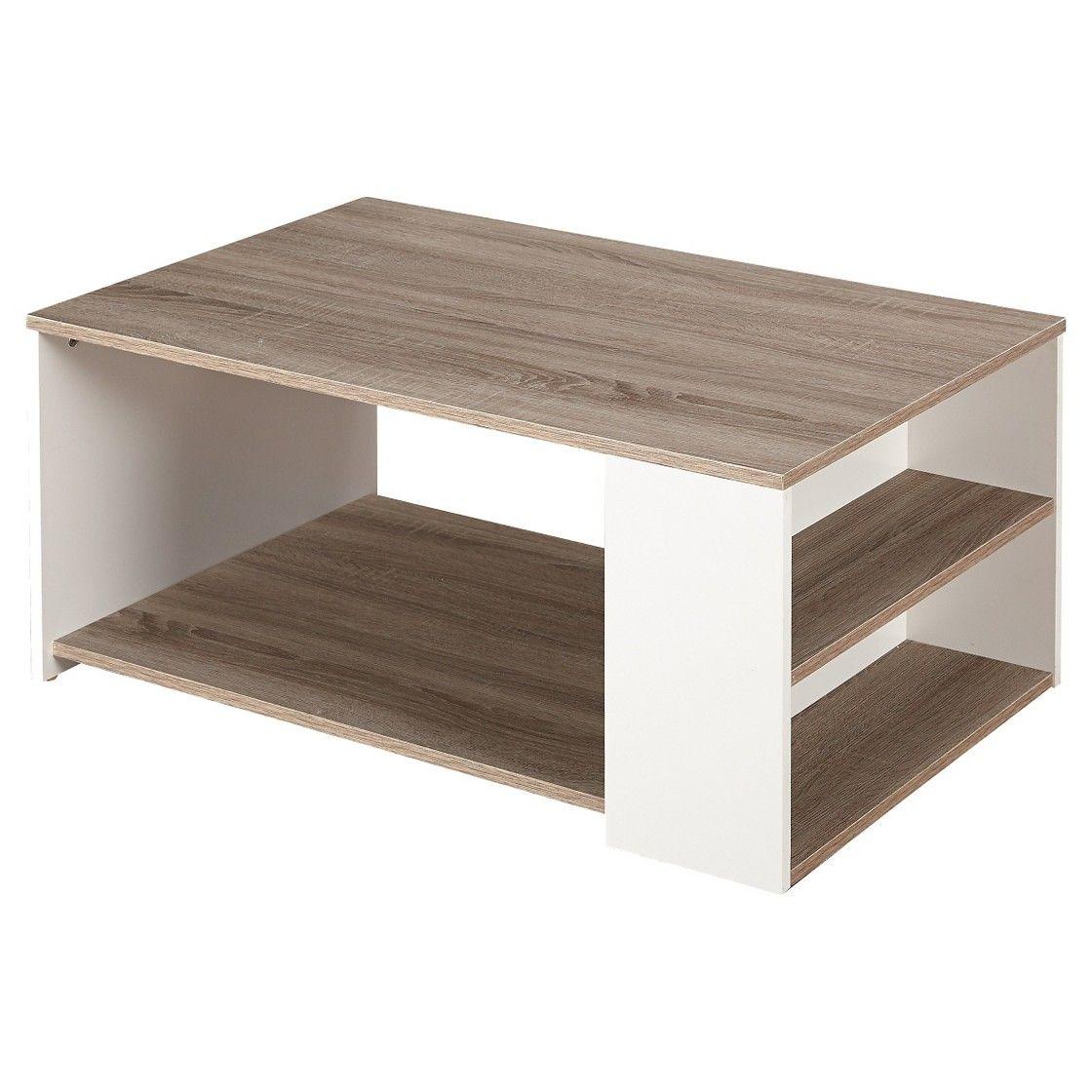 Urban Coffee Table White Sonoma Oak Coffee Table With Shelf
