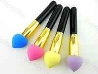 Fundación esponja húmeda pinceles de maquillaje cepillo Polvo ocultan secos establecen herramienta Cosméticos Negro / Oro