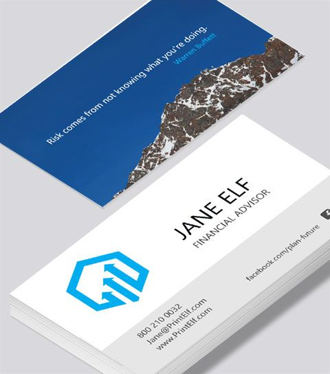 Modern Contemporary Business Card Design Financial Advisor Business Card Modern Business Cards Design Financial Advisors Freelance Business Card