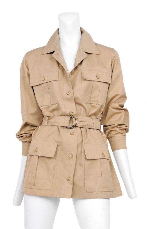 aaff28b045e8 Vintage Yves Saint Laurent Safari Jacket @ Resurrection Vintage #YSL ...