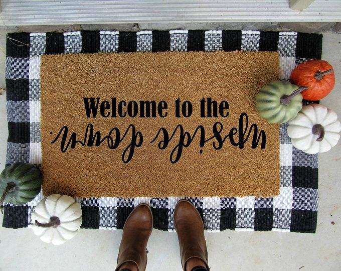 Photo of Hey there pumpkin doormat, customized doormat, personalized doormat, pumpkin, fall decor, housewarming gift, welcome mat, autumn, halloween