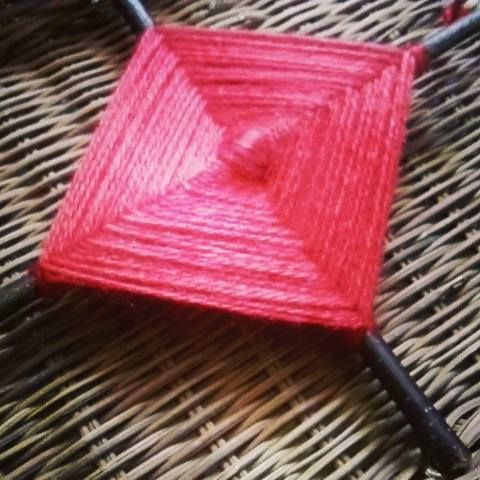Gods Eye - hanger weaving amulet blessings spanish mexican shaman pagan spirit
