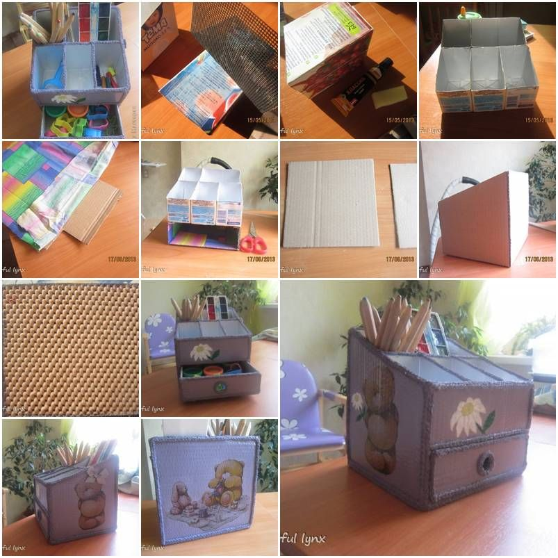 Diy cute desktop organizer for kids diy tutorial for How to organize your desk diy