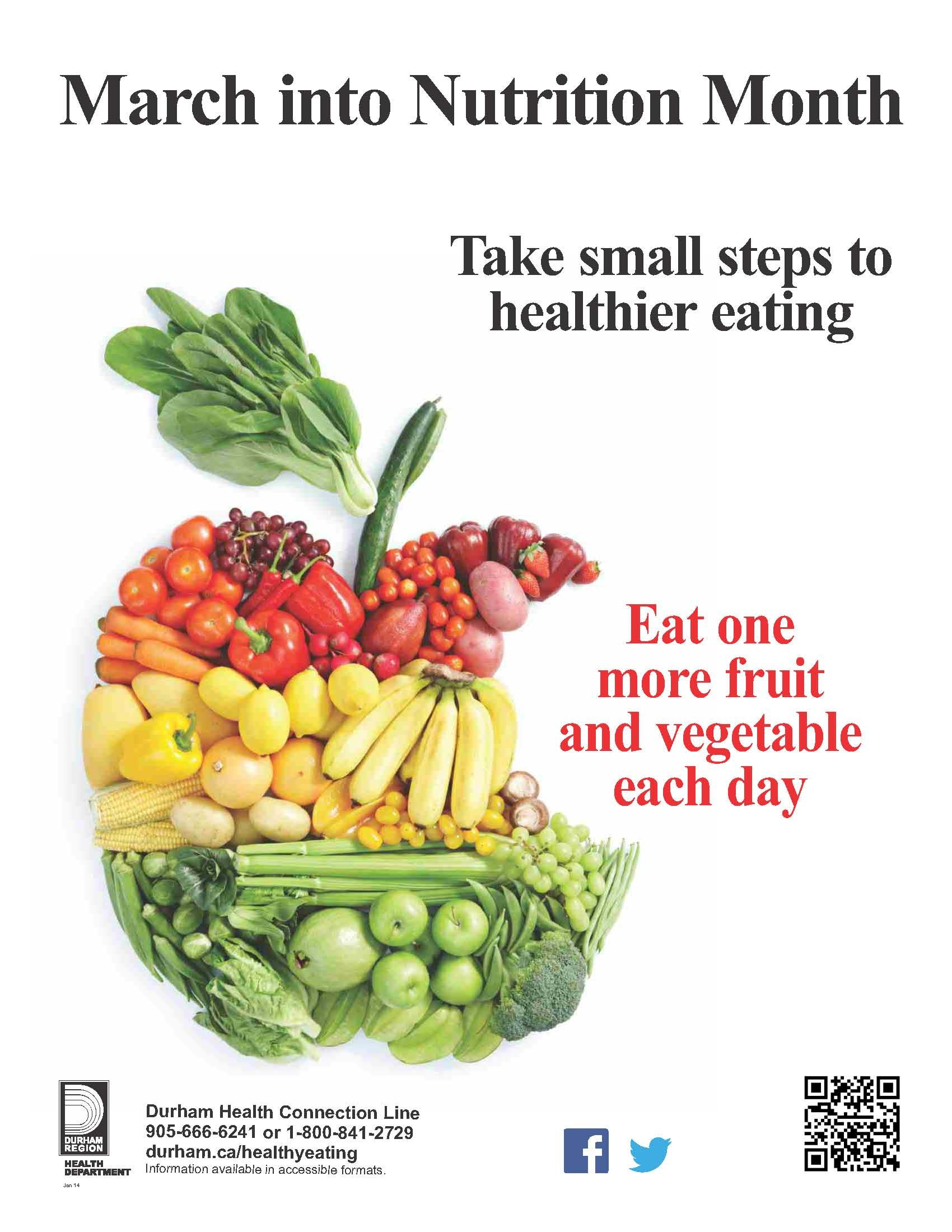 March Into Nutrition Month Take Small Steps To Healthier Eating Did You Know That Most People Are Not Eating Enough Nutrition Nutrition Month Healthy Eating